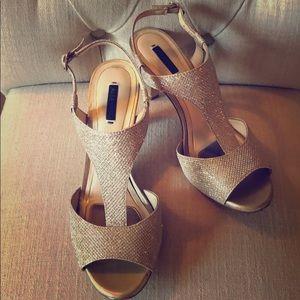 Gold High-heel Sandals